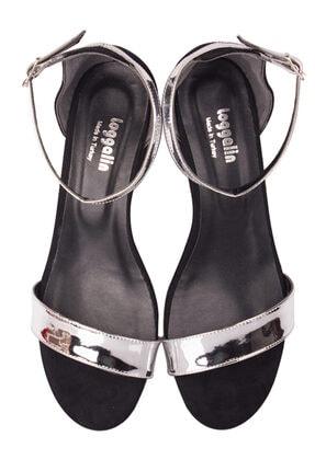 Fitbas 520033 771 Kadın Gümüş Topuklu Büyük & Küçük Numara Ayakkabı 3