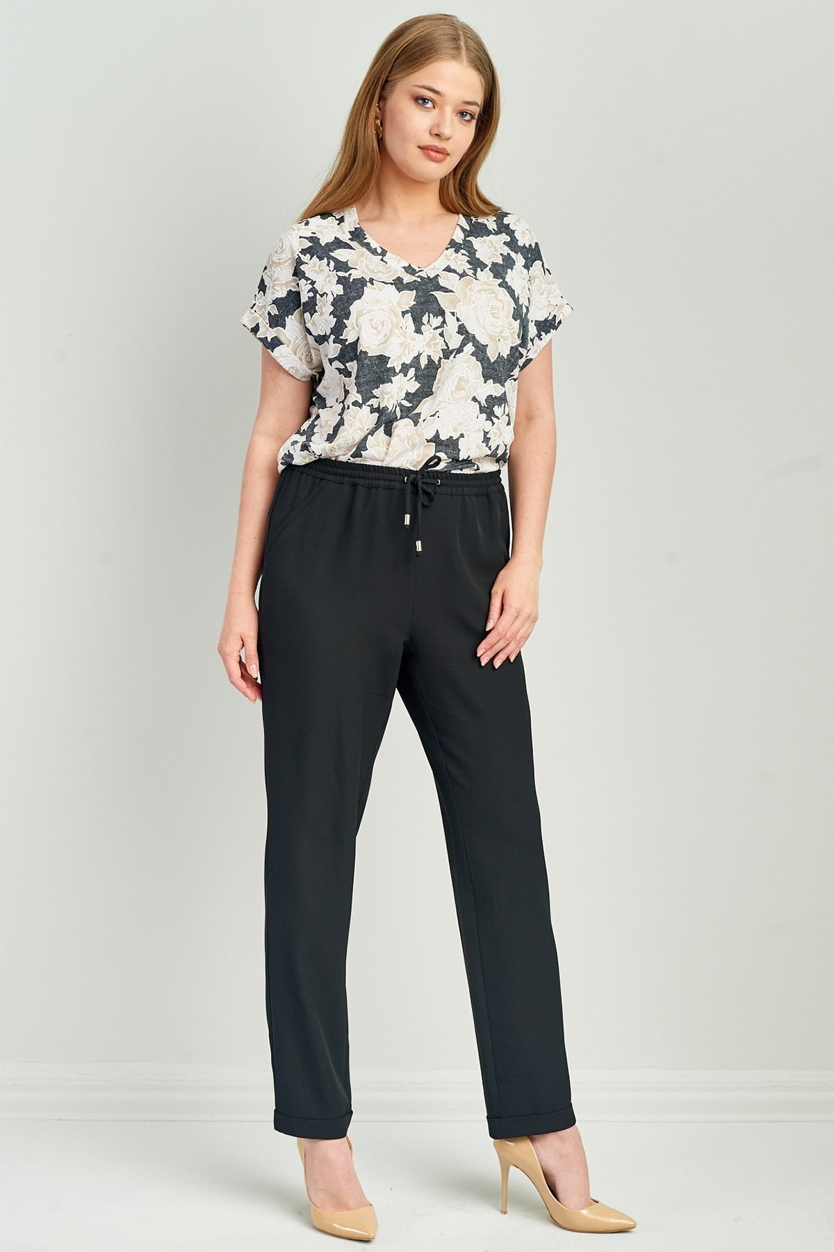 Kadın Beli Lastikli Pantolon 2176