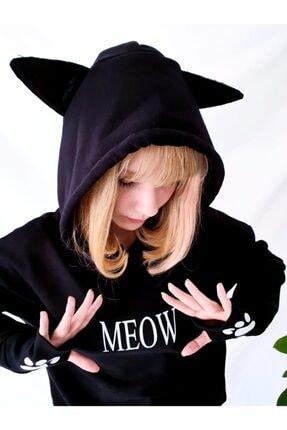 Carpe Meow Kedi Kulaklı Sweatshirt 2