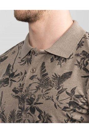 Tudors Slim Fit Polo Yaka Çiçek Desenli T-shirt 3