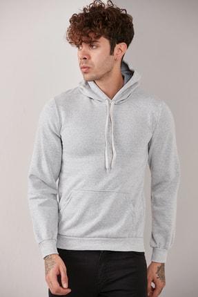 CATSPY Erkek Kapüşonlu Basic Örme Sweatshirt 0