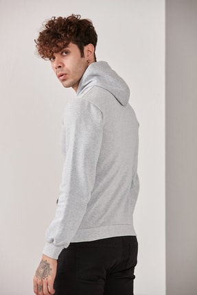 CATSPY Erkek Kapüşonlu Basic Örme Sweatshirt 2