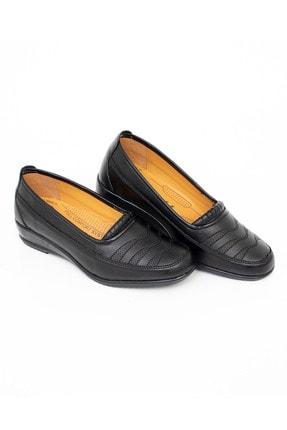 MelikaWalker Full Comfort Ortopedik Taban Bayan Ince Çizgili Siyah Anne Ayakkabısı 4