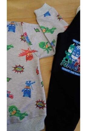 Pijamaskeliler Baskılı Mevsimlik Çocuk Eşofman Takım 1