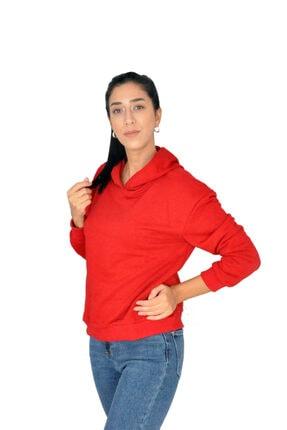 bck Kırmızı Kapüşonlu Sweatshirt 3
