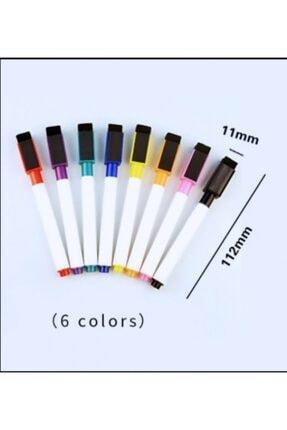 Dünya Magnet 12 Adet Karışık Renkli Mıknatıslı Silgili Akıllı Tahta Kalemi - Silinebilir Beyaz Tahta Kalemi 3