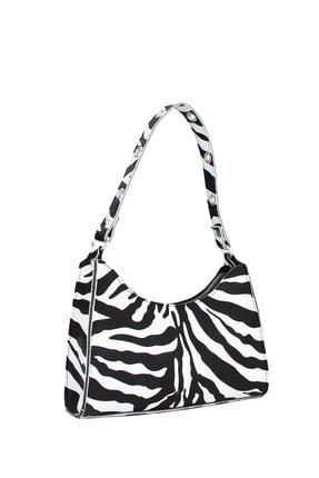 Housebags Kadın Zebra Desenli Baguette Çanta 195 1