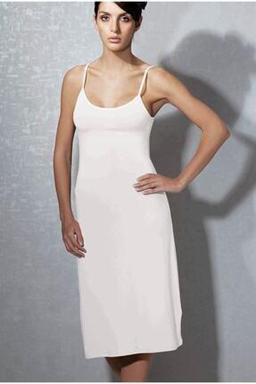 Kadın Beyaz Modal Askılı Jüpon Kombinezon 11129 TYDA11129
