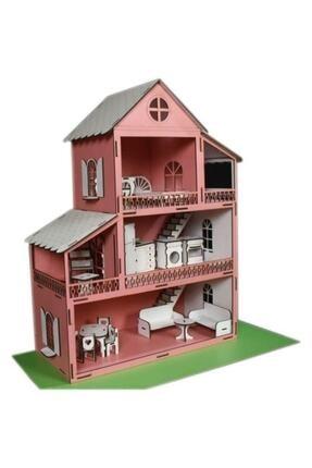 Rüya Gezegeni Ahşap Oyun Barbie Evi 18 Parça Mobilyalı Eşyalı 1