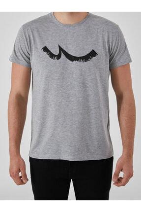 Ltb Erkek  Gri  Baskılı  Kısa Kol Bisiklet Yaka T-Shirt 012208453260890000 0