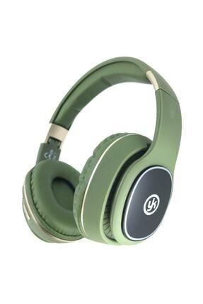 YK Design Rgb Led Işıklı Bluetooth Stereo Kablosuz Kulaklık Yeşil + Sd Kart 0