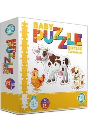 İstocToptan Circle Toys Baby Puzzle Çiftlik Hayvanları 1