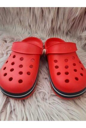 Akınalbella Çocuk Kırmızı Beyaz Lacivert Crocs Terlik 0