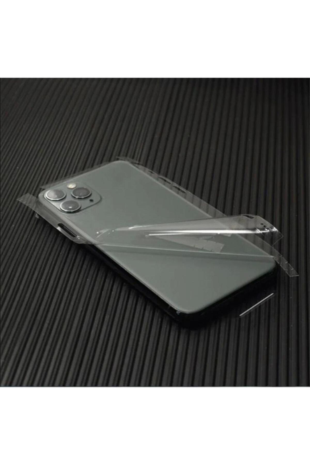 Iphone 12 Pro Max Uyumlu Arka Yan Kaplama Jelatin Sticker Kaplama Şeffaf