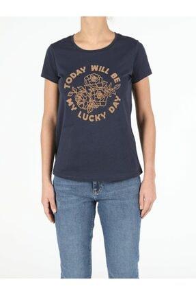 Colin's Kadın Lacivert Kısa Kol  T-Shirt 3