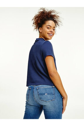 Tommy Hilfiger Kadın Mavi Baskılı  T-shirt 1