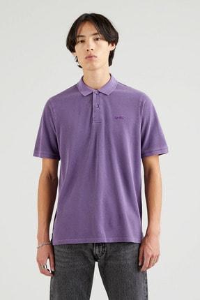 Levi's New Authentic Polo Loganberry Garment Dye Erkek Mavi Polo Tişört 1