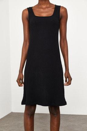 Xena Kadın Siyah Fitilli Elbise 1KZK6-11610-02 4