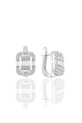 Söğütlü Silver Gümüş Rodyumlu Gümüş Baget Taşlı Üçlü Set 3