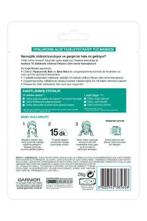Garnier Garnıer Kağıt Maske Hyaluronik Aloe Tazeleyici Tüm Cilt Tipleri Için 2