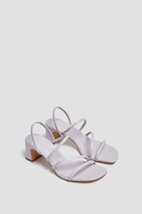 Pull & Bear Ince Bantlı Topuklu Sandalet 0