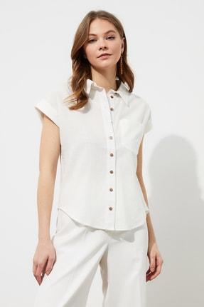 TRENDYOLMİLLA Beyaz Klasik Gömlek TWOAW20GO0081 0