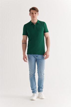 Avva Erkek Yeşil Polo Yaka Düz T-shirt  A11b1146 3