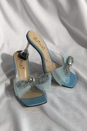 Kadın Mavi Topuklu Ayakkabı Victoria Topuklu