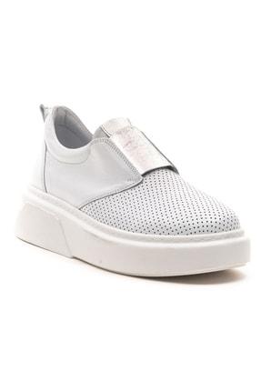 GRADA Beyaz Önden Lastikli  Hakiki Deri Sneaker Ayakkabı 2