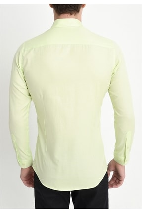 Efor Gk 560 Slim Fit Limon Klasik Gömlek 3