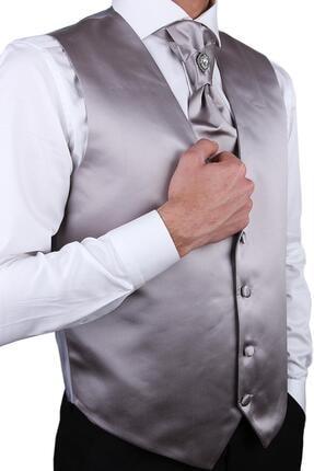 Kravatkolik Gümüş Renk Damat Yeleği Ylk03 1