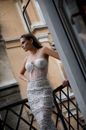 ZALA ALPASLAN Işlemeli Askılı Maksi Elbise 2