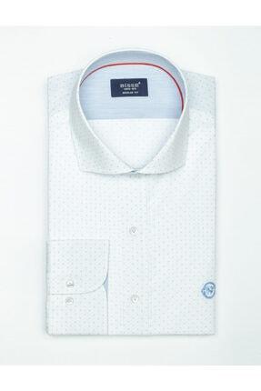 Bisse Uzun Kollu Italyan Yaka Klasik Gömlek 3