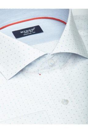 Bisse Uzun Kollu Italyan Yaka Klasik Gömlek 4