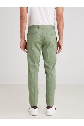 Dufy Yeşil Düz Ribana Örgü Erkek Pantolon - Slım Fıt 3
