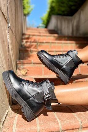İnan Ayakkabı Bayan Kenarı Lastikli Kenardan Tokalı Bot 2
