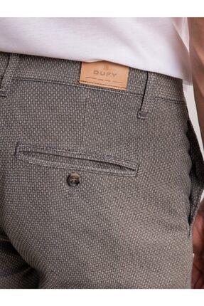 Dufy Taş Armür Pamuk Likra Karışımlı Erkek Pantolon - Classic Fit 4