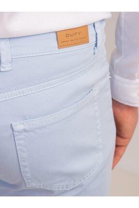 Dufy Buz Mavisi Pamuk Likra Karışımlı Erkek Pantolon - Modern Fit 3