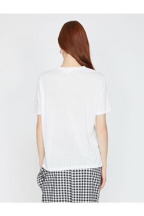Koton Yazili Baskili T-shirt 3
