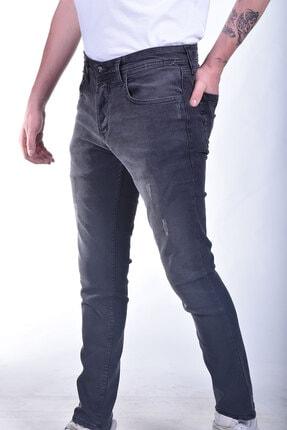 Erkek Slimfit Siyah Yırtıklı Kot Pantolon 1930-C-025