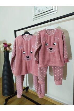 Irmak kids Anne Kız Polar Pijama Takım 0