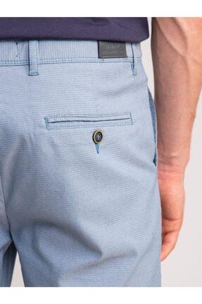 Dufy Açık Mavi Armür Pamuk Likra Karışım Erkek Short - Modern Fit 2