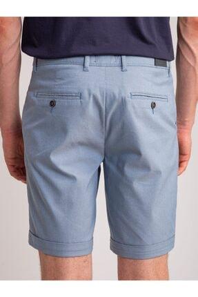 Dufy Açık Mavi Armür Pamuk Likra Karışım Erkek Short - Modern Fit 3