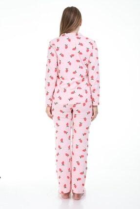 MYRA by LuvmaBelly Luvmabelly Myra9531 Düğmeli Biyeli Hamile Pijama Takımı - Pembe 4