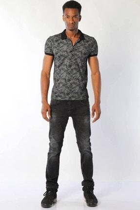 Erkek Düşük Bel Kot Pantolon Panama 471-07 Siyah resmi
