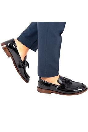 MPP Hakiki Deri Loafer Erkek Ayakkabı Trs508 Rugan Siyah 1