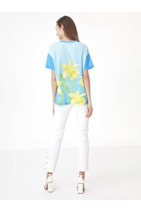 Twist Çiçek Baskı Tshirt 3