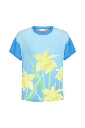 Twist Çiçek Baskı Tshirt 4