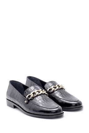 Derimod Kadın Deri Kroko Desenli Loafer 1