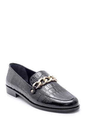 Derimod Kadın Deri Kroko Desenli Loafer 4